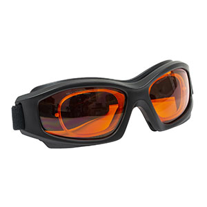 LG3C - Laser Safety Goggles, Light Orange Lenses, 48% Visible Light Transmission, Modern Goggle Style