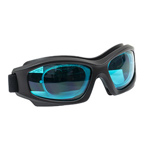 LG7C - Laser Safety Goggles, Teal Lenses, 35% Visible Light Transmission, Modern Goggle Style