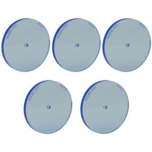 ADF6-P5 - Fluorescent Alignment Disk, Ø1.5 mm Hole, Blue, 5 Pack
