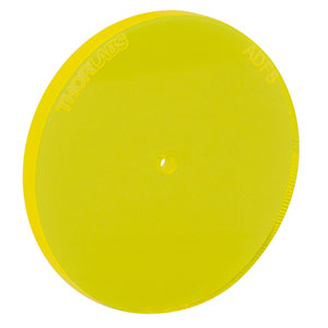 ADF8 - Fluorescent Alignment Disk, Ø1.5 mm Hole, Yellow