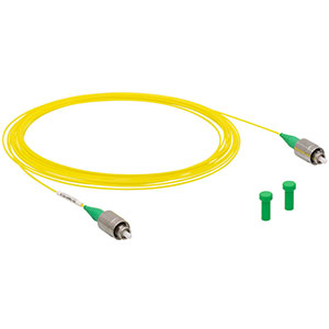 P3-780Y-FC-5 - Single Mode Patch Cable, 780 - 970 nm, FC/APC, Ø900 µm Jacket, 5 m Long