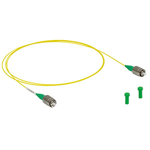 P3-630Y-FC-1 - Single Mode Patch Cable, 633 - 780 nm, FC/APC, Ø900 µm Jacket, 1 m Long