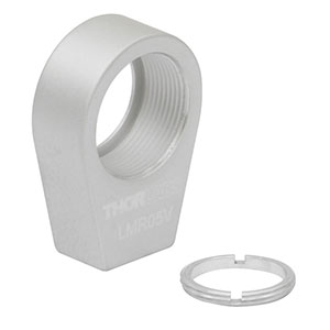 LMR05V - Vacuum-Compatible 	Lens Mount with Retaining Ring for Ø1/2in Optics, 8-32 Tap
