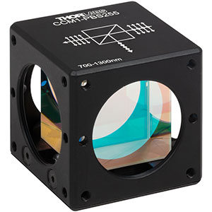 CCM1-PBS255 - 30 mm Cage Cube-Mounted Polarizing Beamsplitter Cube, 700 - 1300 nm, 8-32 Tap