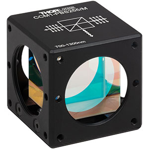 CCM1-PBS255/M - 30 mm Cage Cube-Mounted Polarizing Beamsplitter Cube, 700 - 1300 nm, M4 Tap