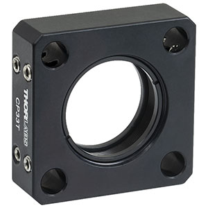 CP33T - SM1-Threaded 30 mm Cage Plate, 0.50in Thick, 2 Retaining Rings, 8-32 Tap
