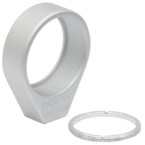 LMR1V/M - Vacuum-Compatible Lens Mount with Retaining Ring for Ø1in Optics, M4 Tap