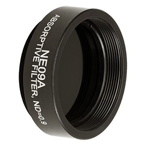 NE09A - Ø25 mm Absorptive ND Filter, SM1-Threaded Mount, Optical Density: 0.9