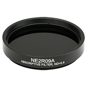 NE2R09A - Ø2in Absorptive ND Filter, SM2-Threaded Mount, Optical Density: 0.9