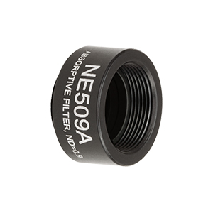 NE509A - Ø1/2in Absorptive ND Filter, SM05-Threaded Mount, Optical Density: 0.9