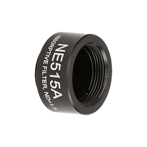 NE515A - Ø1/2in Absorptive ND Filter, SM05-Threaded Mount, Optical Density: 1.5