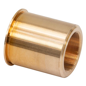 F38SSN2P - Threaded Bushing, Phosphor Bronze, 3/8in-100, 0.57in Long