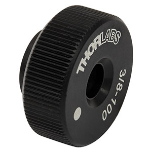 F38SSK1L - Ø0.85in 3/8in-100 Removable Adjuster Knob