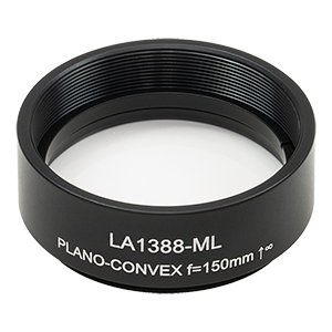LA1388-ML - Ø1.5in N-BK7 Plano-Convex Lens, SM1.5-Threaded Mount, f = 150 mm, Uncoated