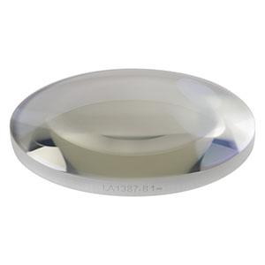 LA1387-B - N-BK7 Plano-Convex Lens, Ø1.5in, f = 100 mm, AR Coating: 650 - 1050 nm