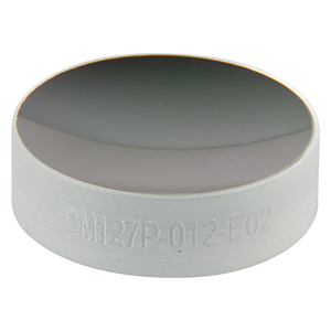 CM127P-012-E02 - Ø1/2in Dielectric-Coated Concave Mirror, 400 - 750 nm, f = 12 mm, Back Side Polished