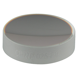 CM127P-025-E02 - Ø1/2in Dielectric-Coated Concave Mirror, 400 - 750 nm, f = 25 mm, Back Side Polished
