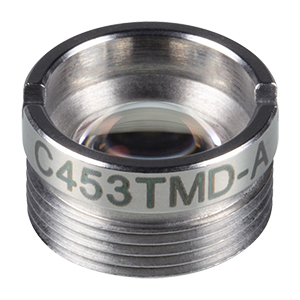 C453TMD-A - f = 4.6 mm, NA = 0.5, Mounted Aspheric Lens, ARC: 350 - 700 nm
