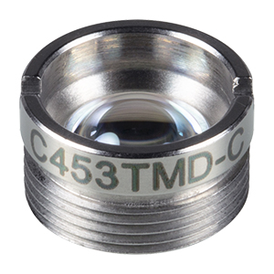 C453TMD-C - f = 4.6 mm, NA = 0.5, Mounted Aspheric Lens, ARC: 1050 - 1700 nm
