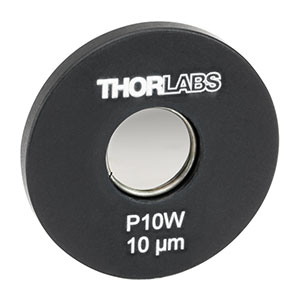 P10W - Ø1in Mounted Pinhole, 10 ± 1 µm Pinhole Diameter, Tungsten