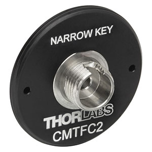 CMTFC2 - FC/PC Fiber Adapter Plate with C-Mount (1.00in-32) Threads, Narrow Key (2.0 mm)