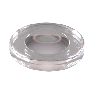 354710 - f = 1.5 mm, NA = 0.5, WD = 0.5 mm, Unmounted Aspheric Lens, Uncoated