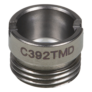 C392TMD - f = 2.8 mm, NA = 0.6, WD = 1.0 mm, Mounted Aspheric Lens, Uncoated