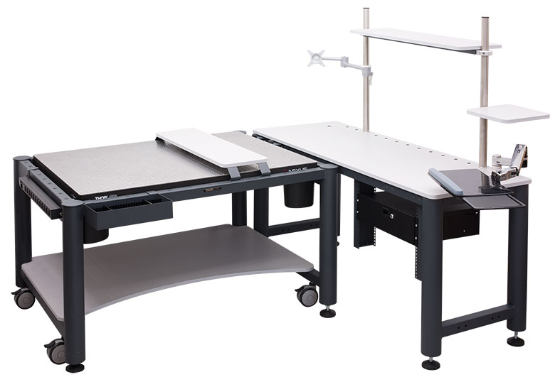 A Moveable Computer Desk That Retains You Nicely Organized Lab Bench