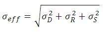 Total noise equation 1
