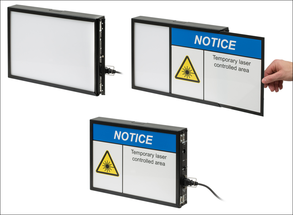 Illuminated Laser Safety Signs