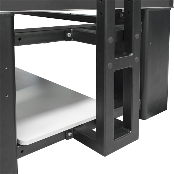 shelving for optical table workstations
