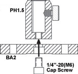 PH1-ST Fastening To BA2 Base Plate