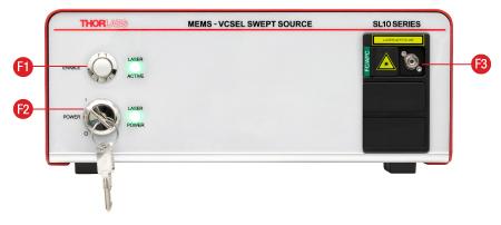 SL10 Swept Source Front Panel