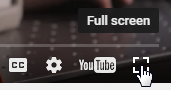 Fullscreen Button for Video Player