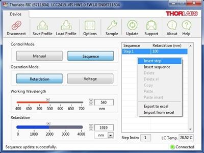 Variable-Wave Retarder Screenshot