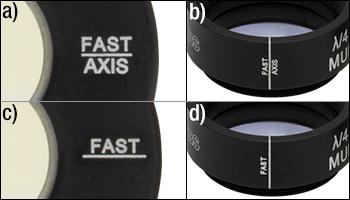 waveplate fast axis engraving