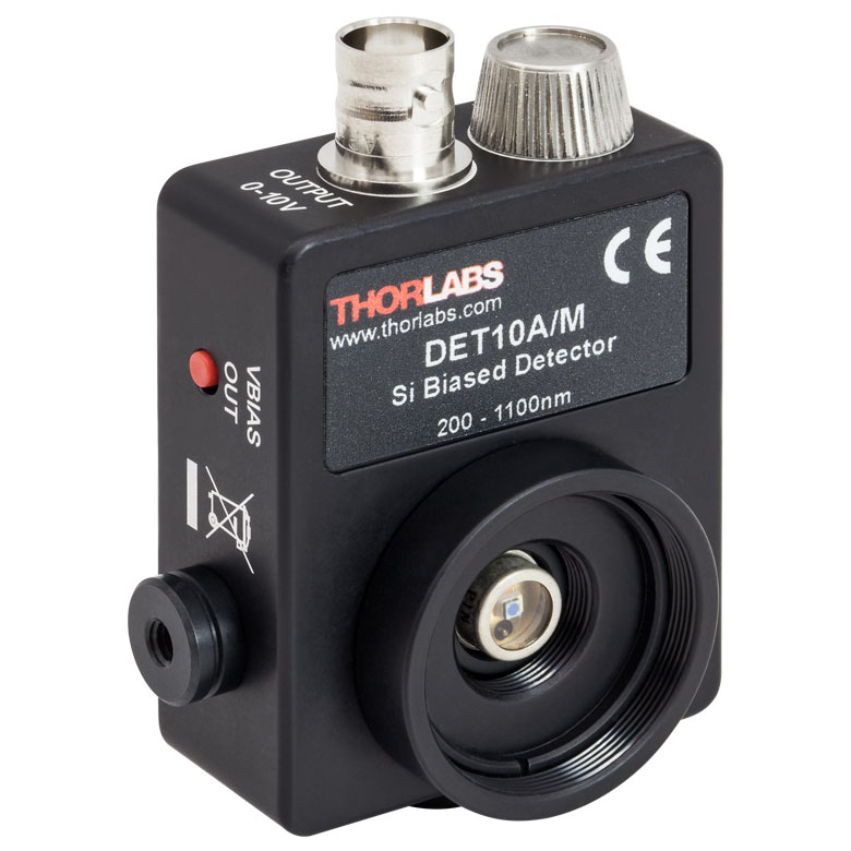 Thorlabs - DET10A/M Si Detector, 200-1100 nm, 1 ns Rise Time, 0.8 mm 2 , M4 Taps