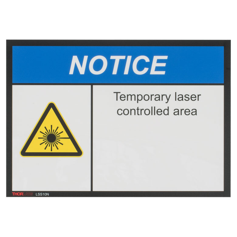 Illuminated Laser Safety Signs
